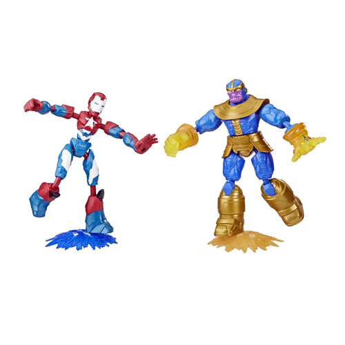 Avengers Iron Patriot en Thanos